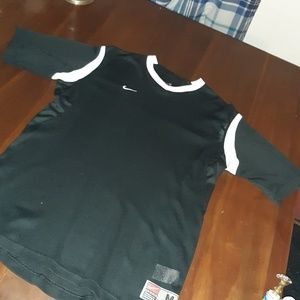 Black white Nike shirt with collar. Size med